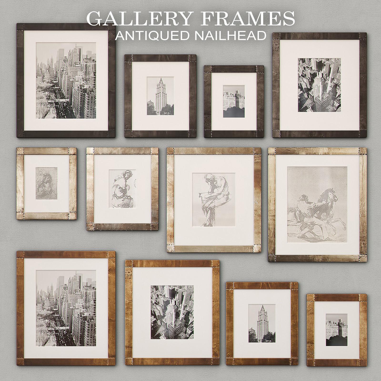 RH Antiqued Nailhead Gallery Frames