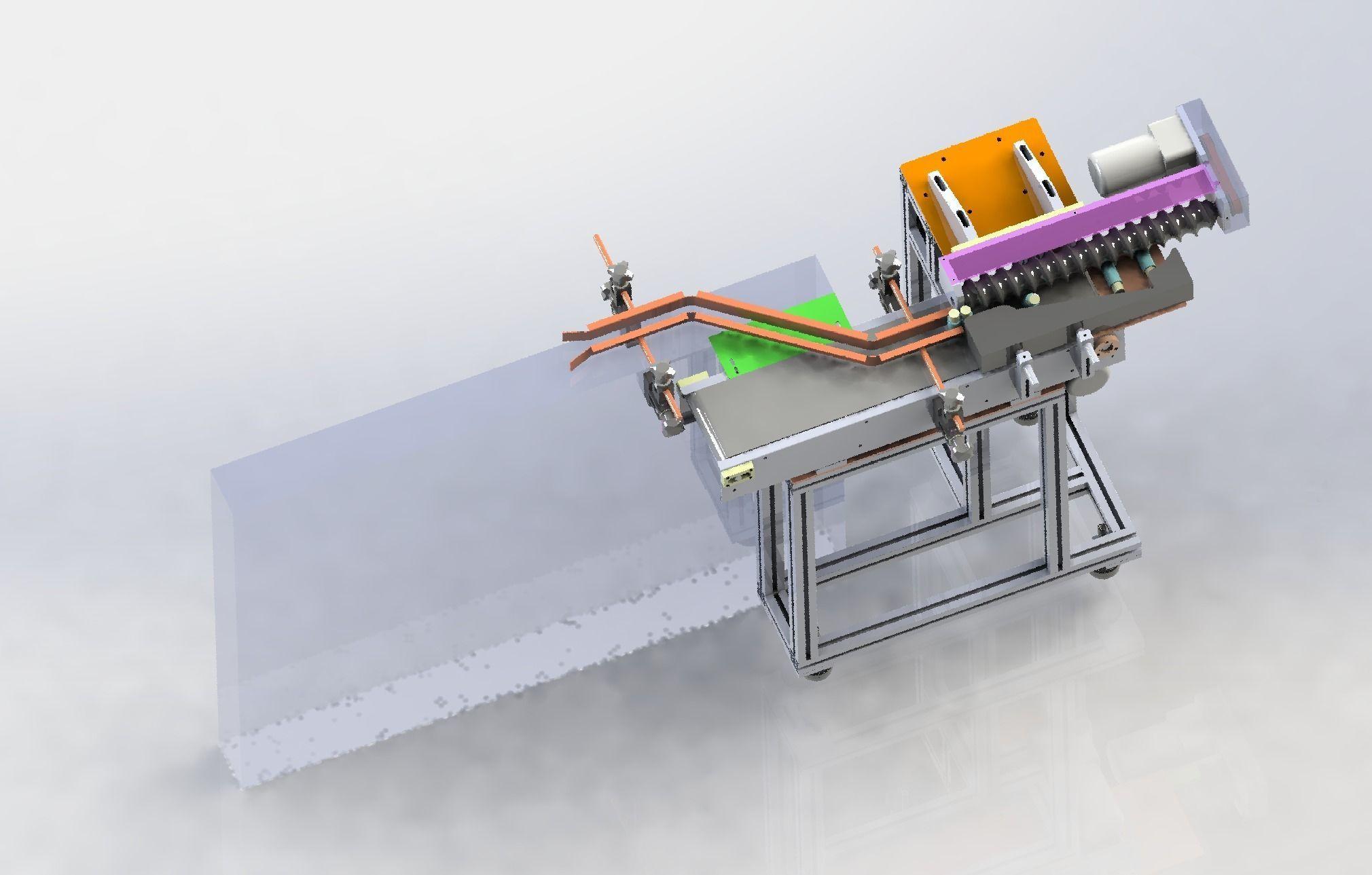 Vertical change horizontal labeling machine | 3D model