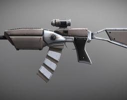 Sci-fi Sniper Battle Rifle 3D model