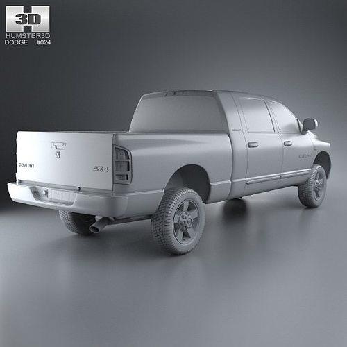 Dodge Ram 1500 Mega Cab Laramie 160-inch B... 3D Model MAX