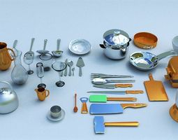 kitchen accessories interior 3D model