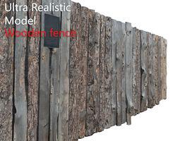 Wooden Old Fence Scan 3D model