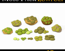 3D model LOW POLY Moss Pack 2
