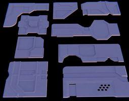 3D handy Sci fi panels for kitbashing