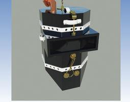 Wooden diving helmet 3D asset