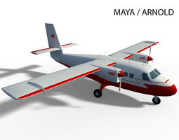 DHC-6 TWIN OTTER 3D model animated