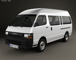 3D model Toyota HiAce Commuter 1992