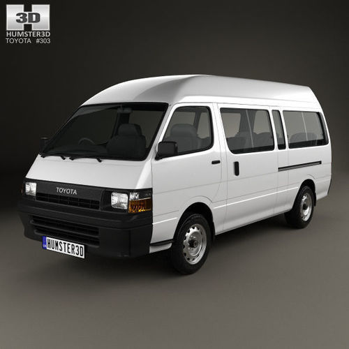 toyota hiace commuter 1992 3d model max obj mtl 3ds fbx c4d lwo lw lws 1