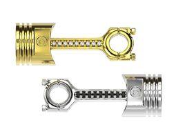 Piston rod gold pendant 3d printable engine necklace stl
