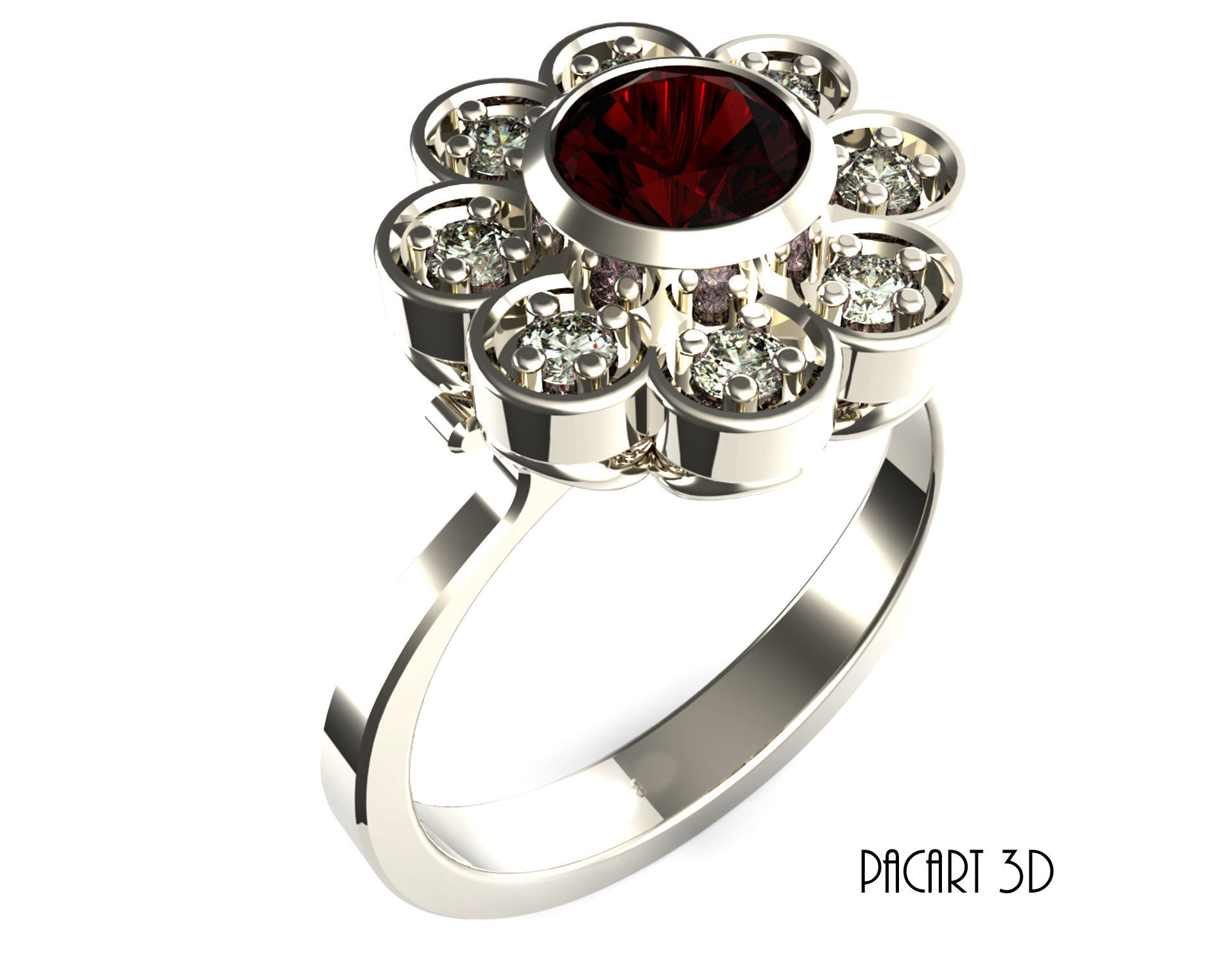 Engagement Or Wedding Ring Stl Digital Design For Jewelry Model 6