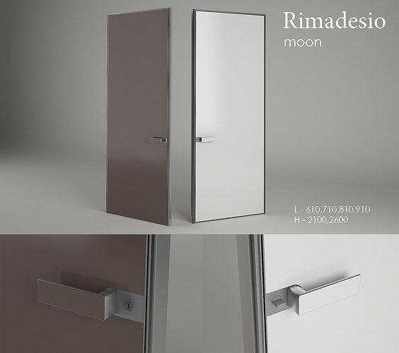 Rimadesio moon 3d model cgtrader for Porte 3ds max