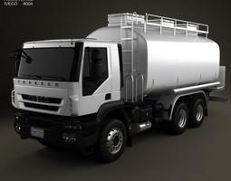 3d model iveco trakker fuel tank truck 3-axis 2012