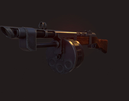 game-ready terrible shotgun low poly 3d model