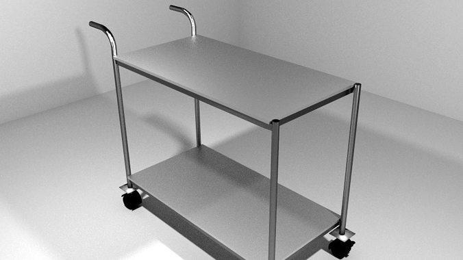 trolley kitchen 3d model obj mtl 3ds lwo lw lws blend dae 1