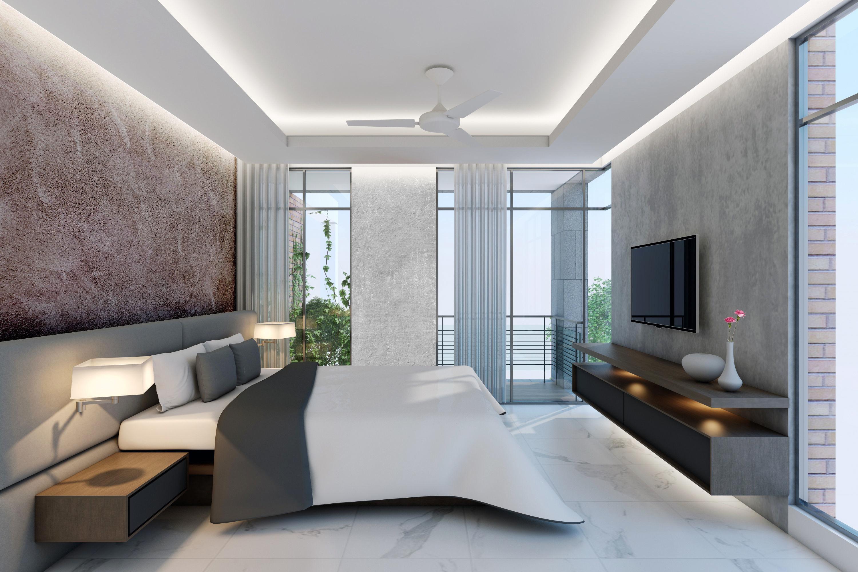 3d modern bed interior cgtrader