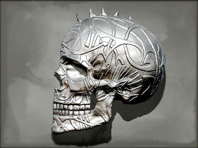Punk Skull Wall Decor Print Model