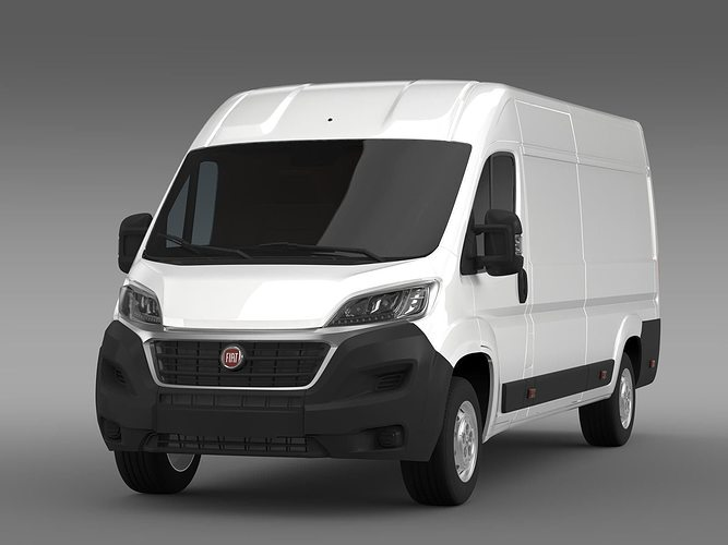 fiat ducato van l4h2 2017 3d cgtrader. Black Bedroom Furniture Sets. Home Design Ideas
