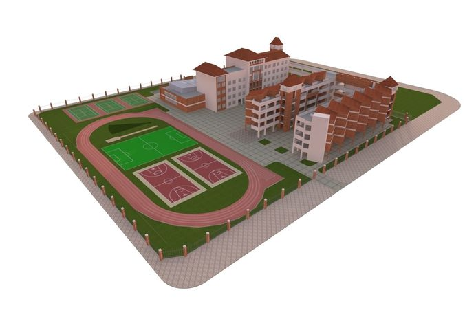 school 3d model max 1