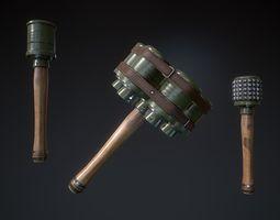 Grenade 3D asset low-poly