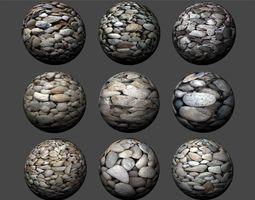 Gravel Textures Pack 1 3D model