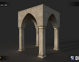 Arch Building 3D asset