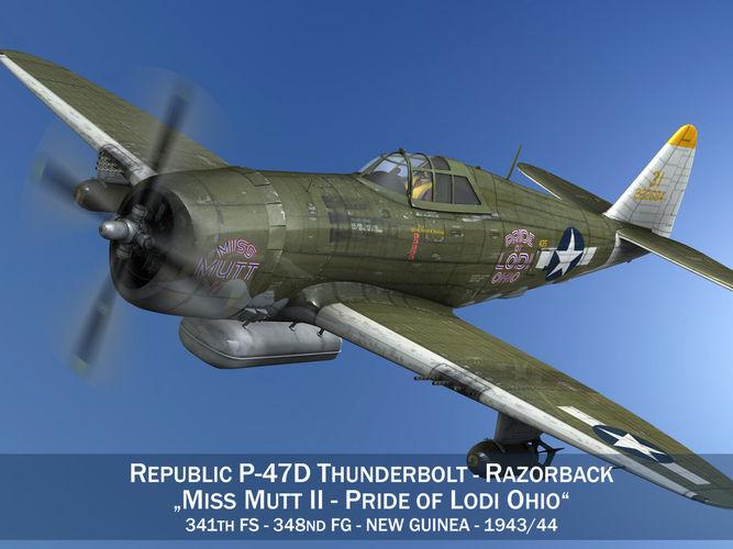 Republic P-47D Thunderbolt - Miss Mutt II