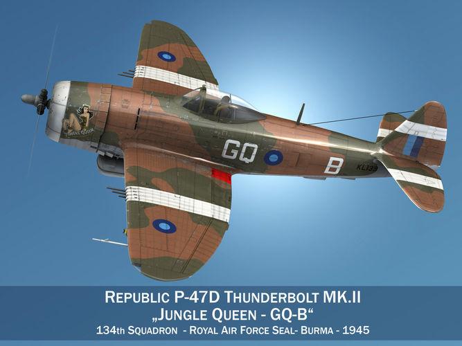 Republic P-47D Thunderbolt MK II - Jungle Queen