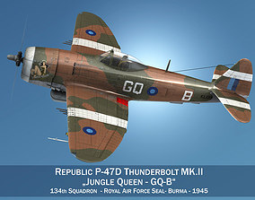 Republic P-47D Thunderbolt MK II - Jungle Queen 3D