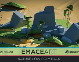 3D asset Low Poly Nature Project Pack - Dirt Road