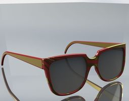 3d model vintage sunglasses