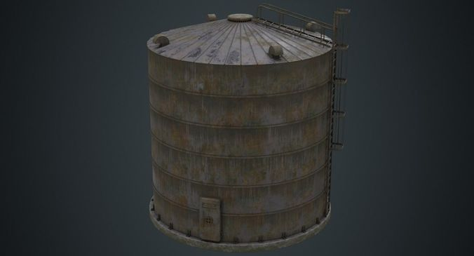 silo 1b 3d model low-poly obj mtl fbx blend 1