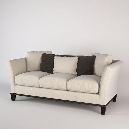 Baker Flared Arm Sofa Model Max Obj Mtl Fbx 1