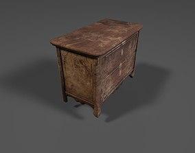Old Long Dresser 3D asset