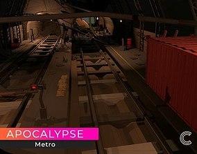 3D model Post Apocalyptic Metro