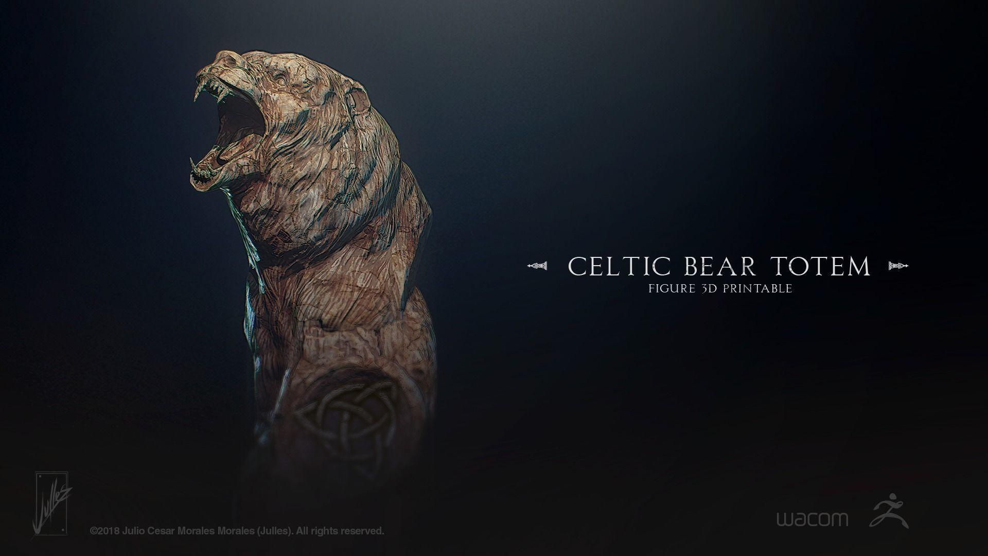 Celtic Bear Totem