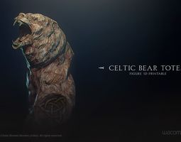 Celtic Bear Totem 3D print model