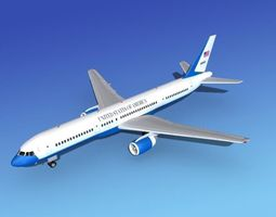 3D Boeing C-32 US Air Force