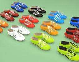 Football soccer boots footwear shoes 3D