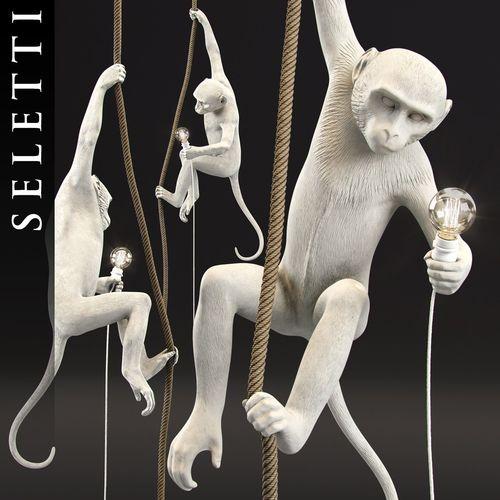 the monkey lamp ceiling  version by seletti 3d model max obj mtl 3ds fbx stl ztl 1
