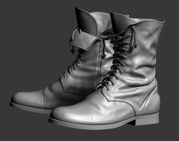 male Boots - ZBrush Base Model