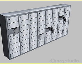 Bank Safe Deposit Boxes 3D model