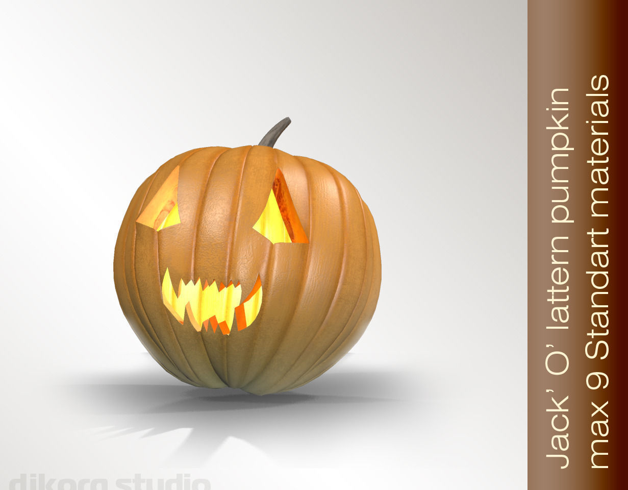 3d halloween jack o lantern cgtrader