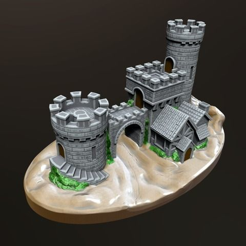 castle gate 3d model stl 1