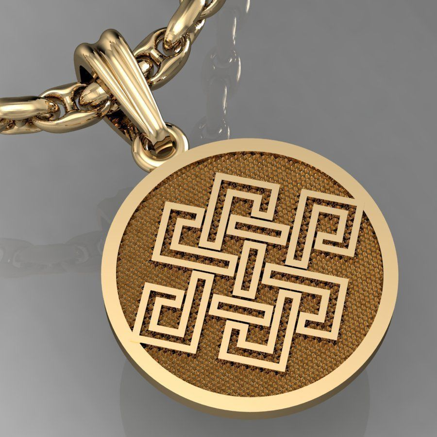 pendant with  symbols - with or without enamel