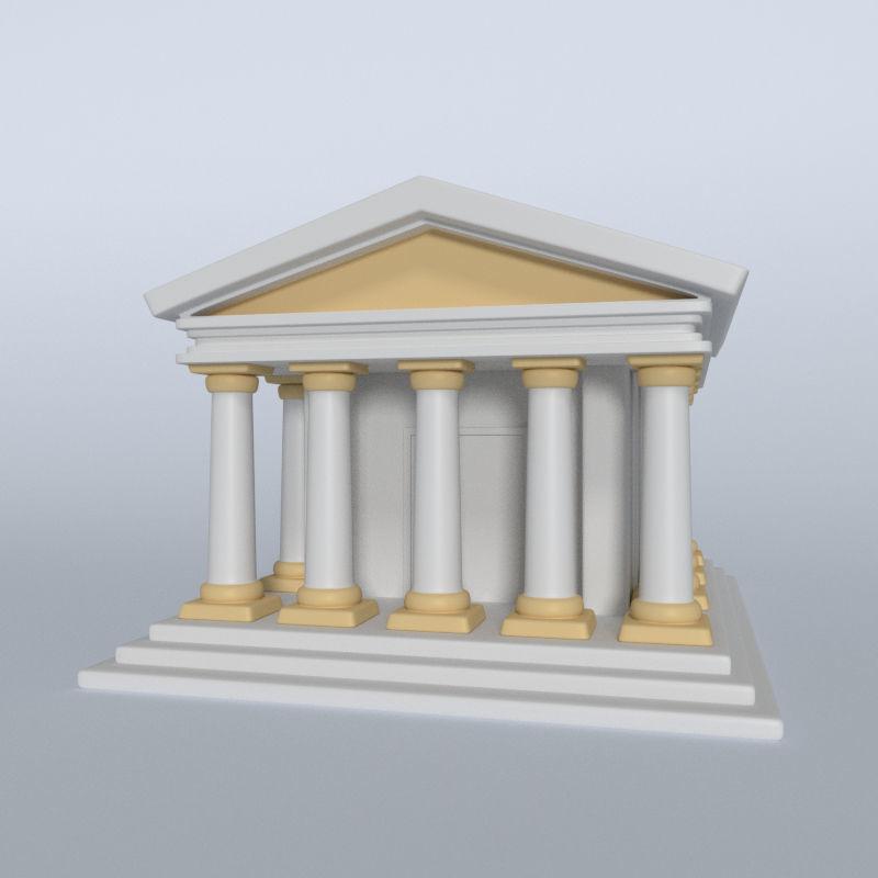 Cartoon Greek Temple