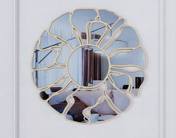 3D HPDecor La Flower wonderful wall mirror