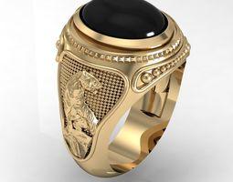 signet ring for men 3D model