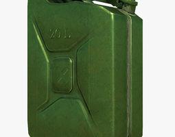 Jerrycan green 3D asset realtime