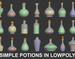 Potion 3D - Lowpoy game-ready