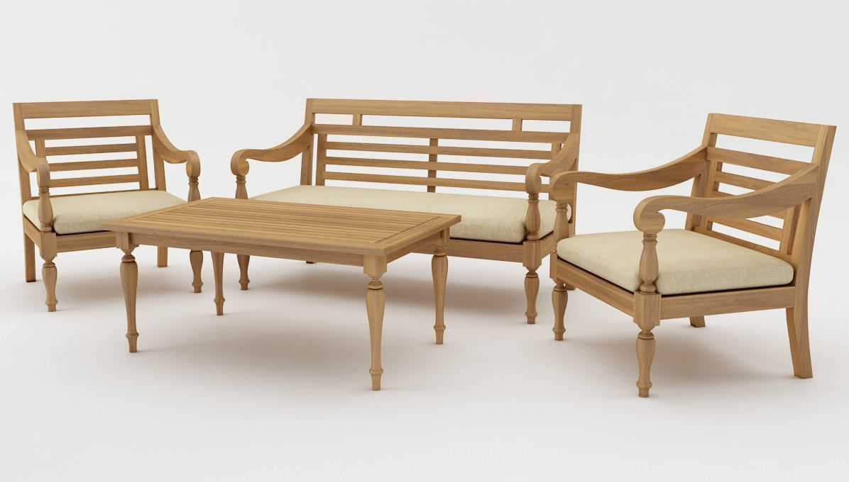 Javanese Sofa Set Model Cgtrader